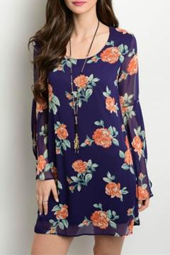My Story Navy Floral Dress - Product List Image