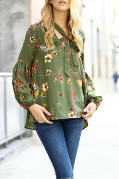 My Story Olive Floral Top - Alternate List Image