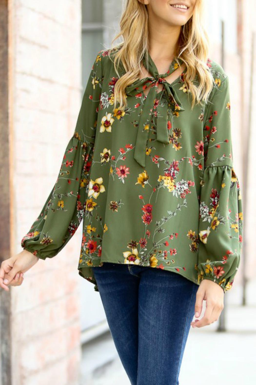 Rose And Olive Floral Blouse Anlis