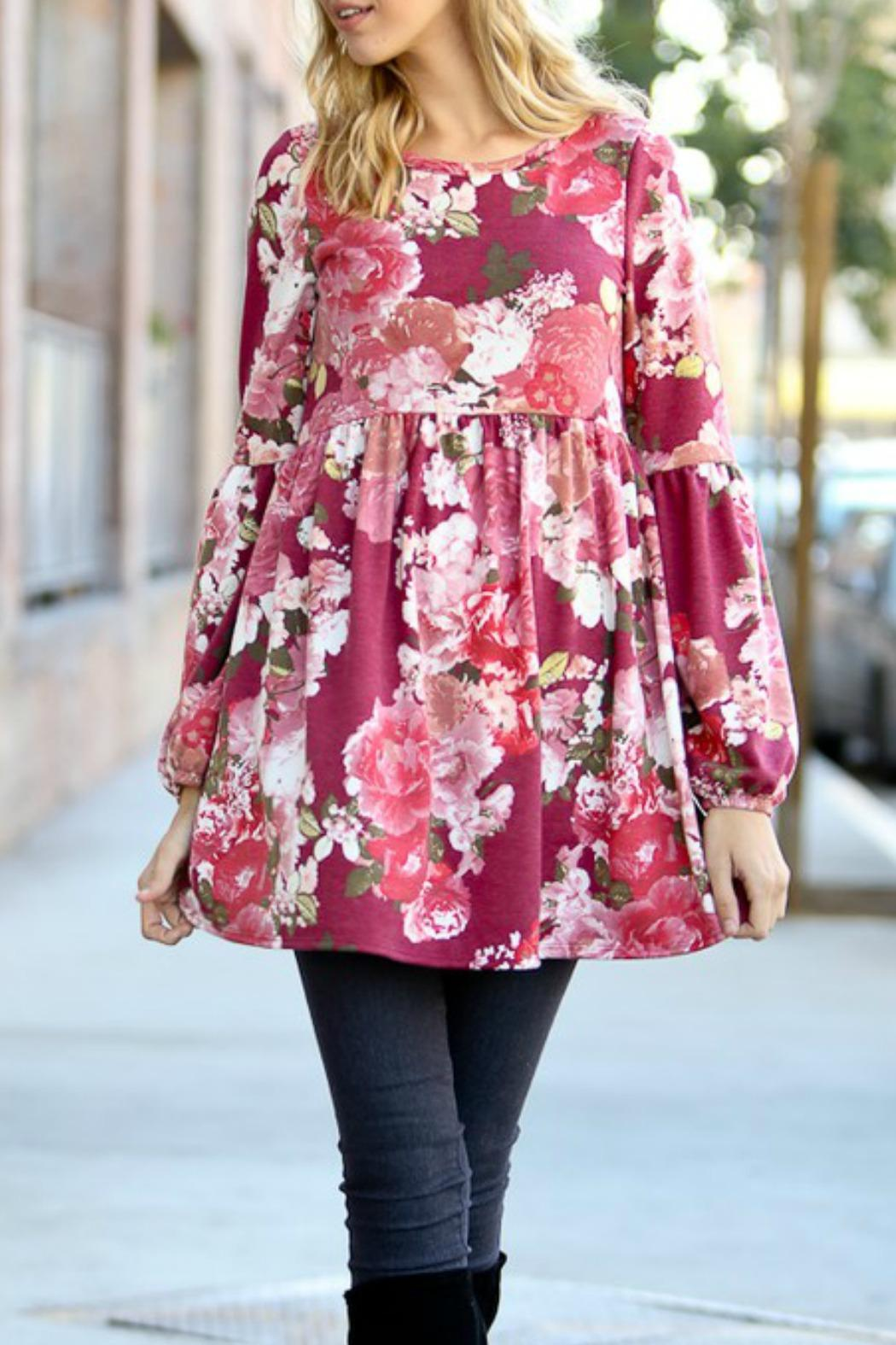 My Story Pink Floral Dress - Main Image