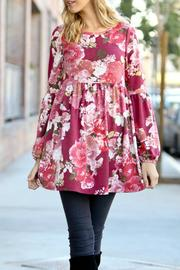 My Story Pink Floral Dress - Front cropped