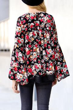 My Story Red Floral Top - Alternate List Image