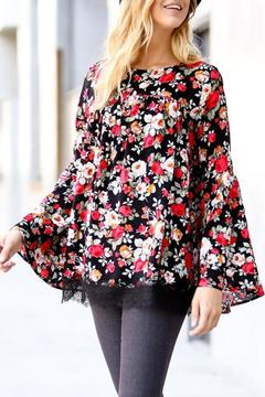 My Story Red Floral Top - Product List Image