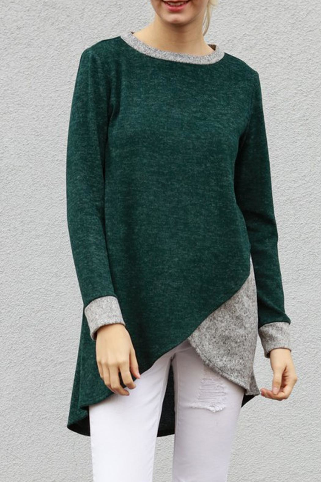 My Story Tunic Sweater Top - Front Full Image