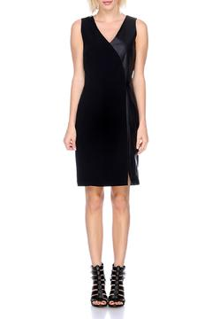 My Tribe Asymmetric Leather Dress - Product List Image