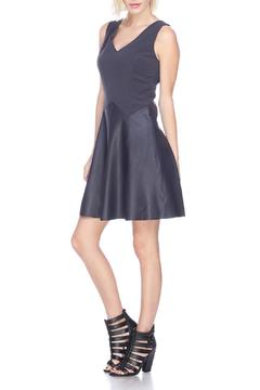 Shoptiques Product: Leather Flare Dress