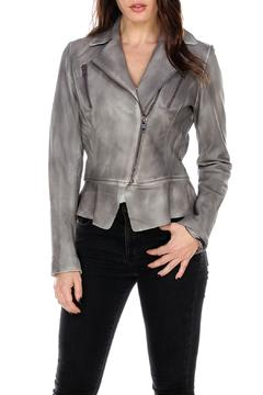 My Tribe Leather Ruffle Perfecto Jacket - Product List Image