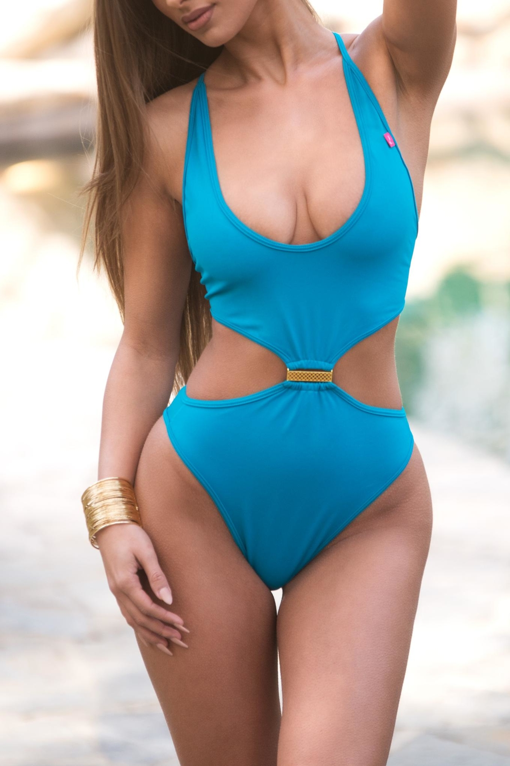 Chynna Dolls Mykonos Cut-Out One-Piece - Front Cropped Image