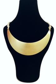 Mykonos Collection Gold Collar Necklace - Front full body