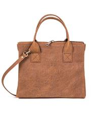 Myomy Embossed Leather Bag - Front cropped