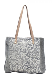 Myra Bag Myra Leaf Print Canvas Tote Bag 1140 - Product Mini Image