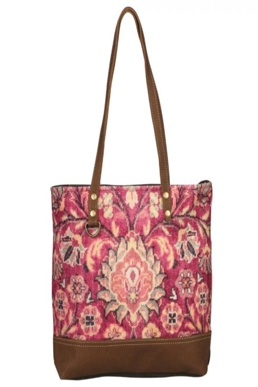 Myra Bags Blossomy-Pink Tote Bag - Front Full Image