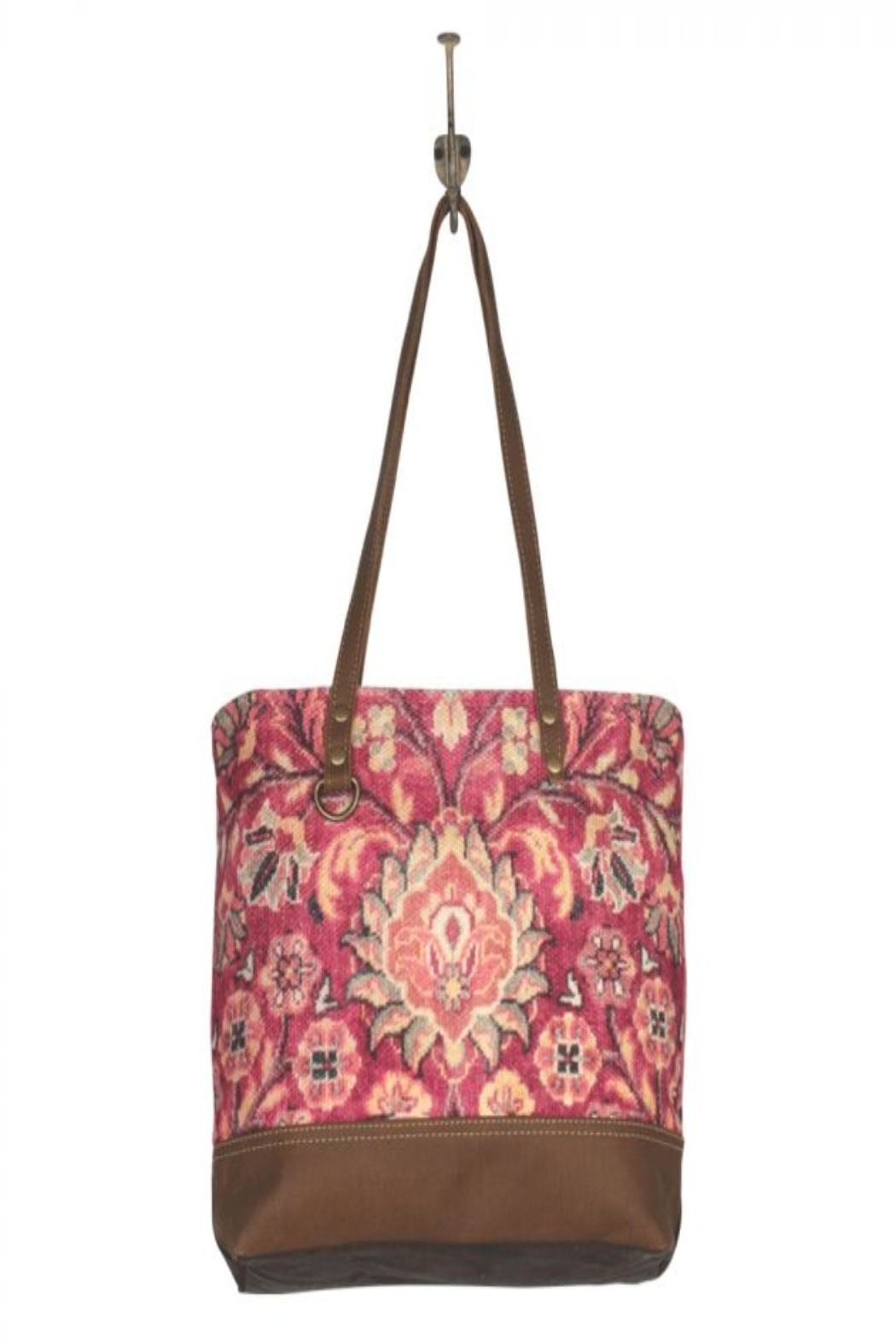 Myra Bags Blossomy-Pink Tote Bag - Back Cropped Image