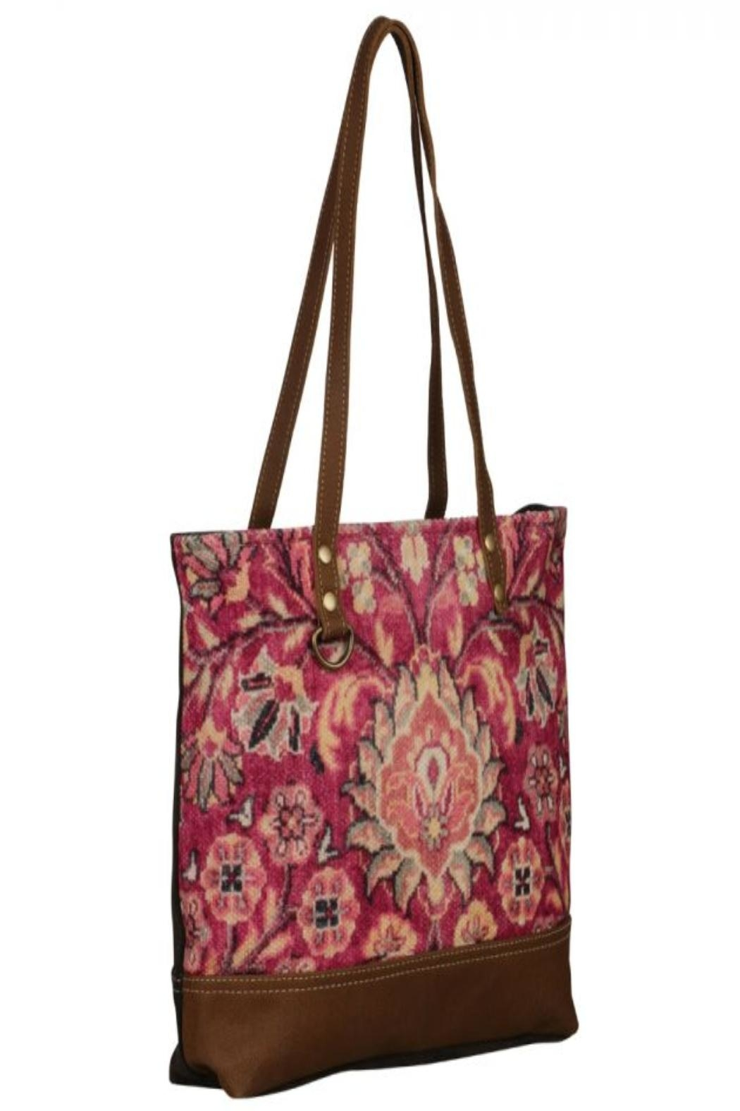 Myra Bags Blossomy-Pink Tote Bag - Side Cropped Image
