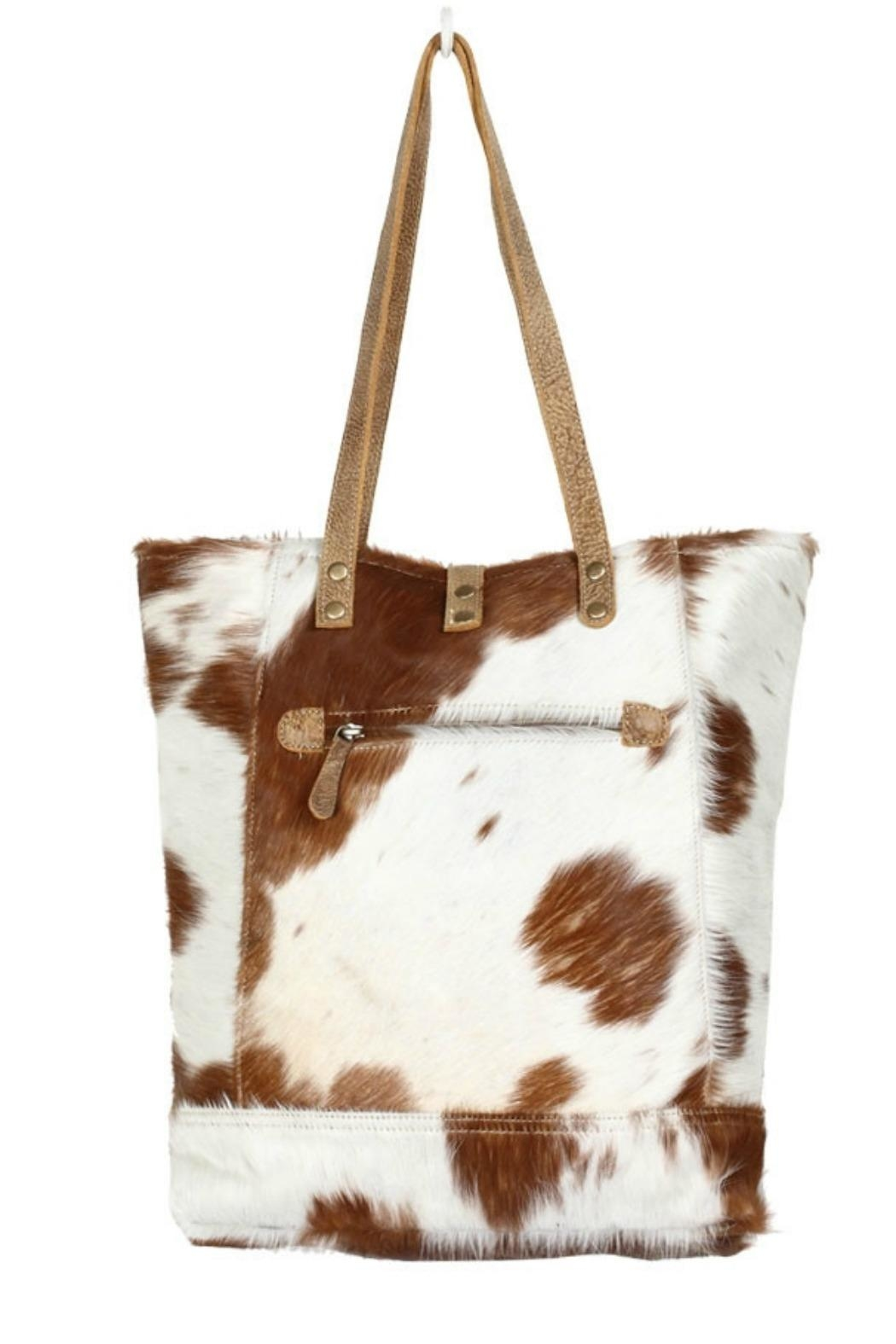 Myra Bags Chestnut Hairon Tote - Front Full Image