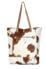 Myra Bags Chestnut Hairon Tote - Front full body