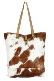 Myra Bags Chestnut Hairon Tote - Product Mini Image