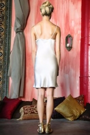 Myrrh Silk Dress Slip - Front full body
