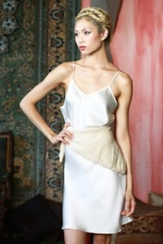 Myrrh Silk Dress Slip - Front cropped