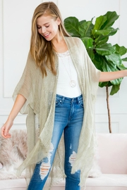 MYS Shimmery-Fringed Open Kimono - Front cropped