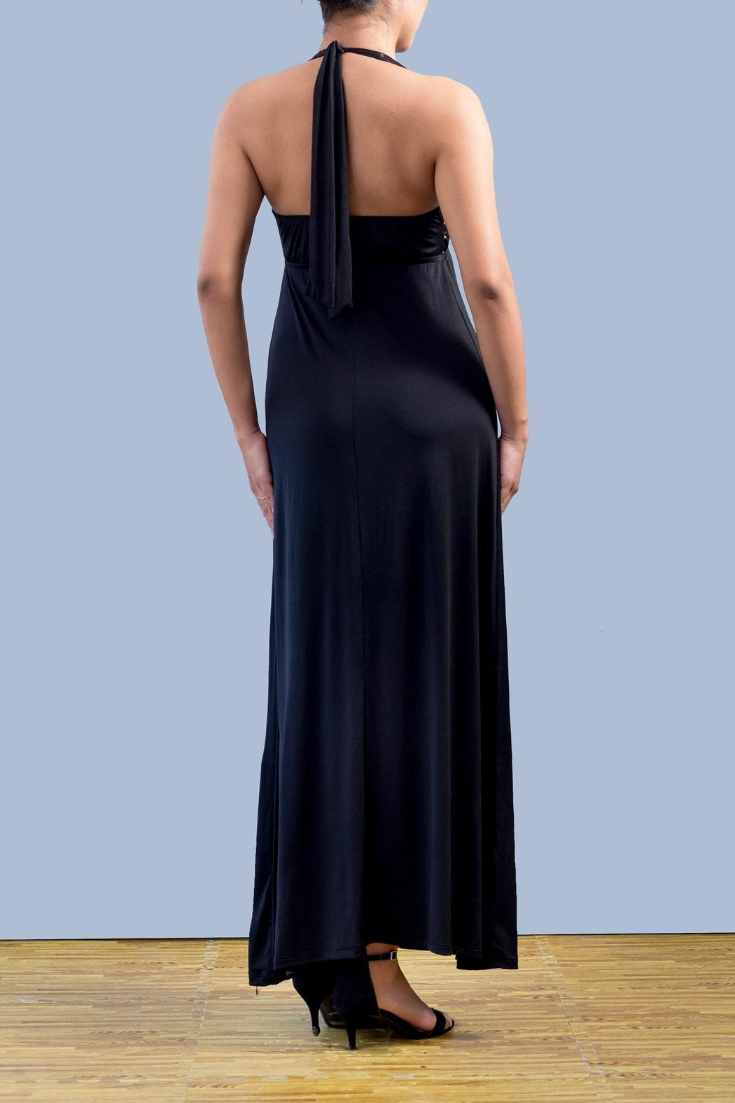 Myskova Swarovski Albahacar Long Dress - Front Full Image