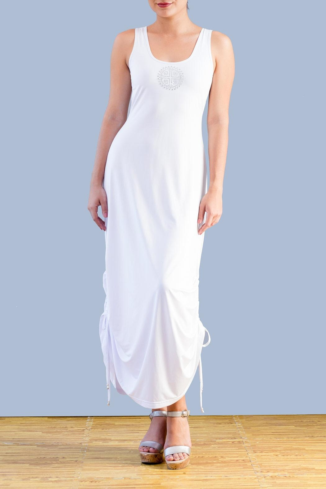 Myskova Swarovski Alcatraz Long Dress - Front Cropped Image