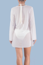 Myskova White Heidi Crystal Top - Front full body