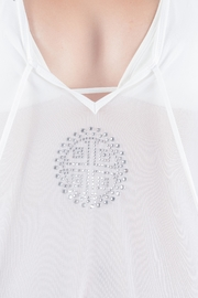 Myskova White Heidi Crystal Top - Side cropped