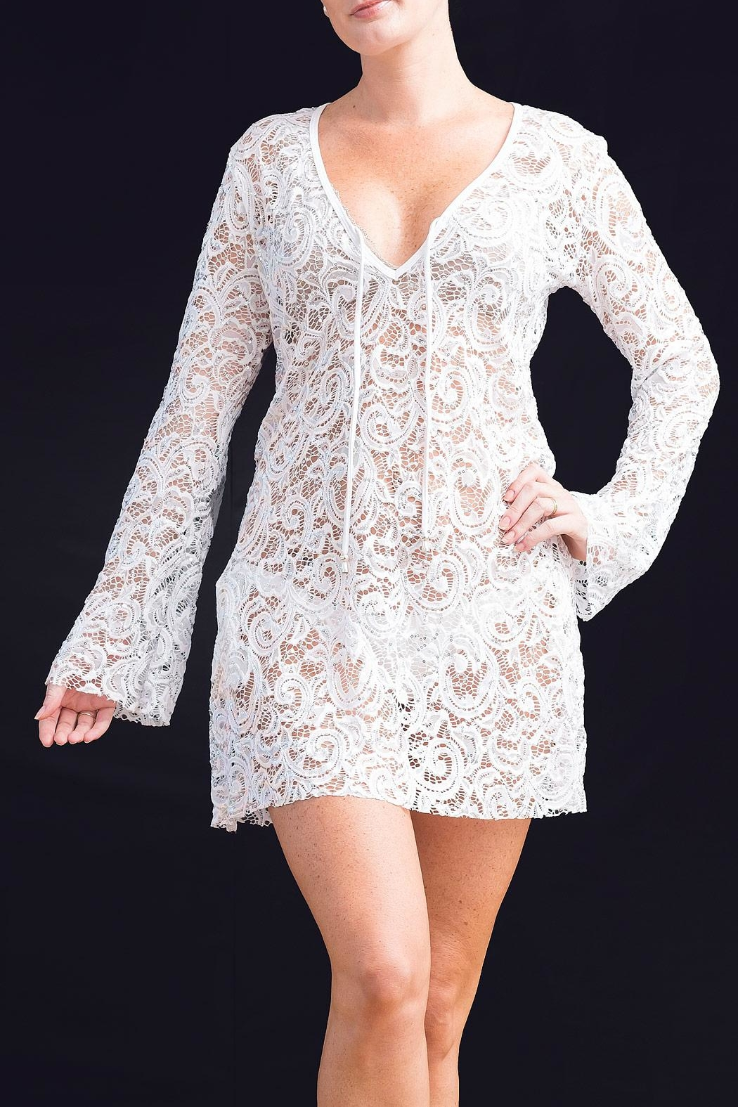 Myskova Heidi Lace Cover-Up - Front Cropped Image