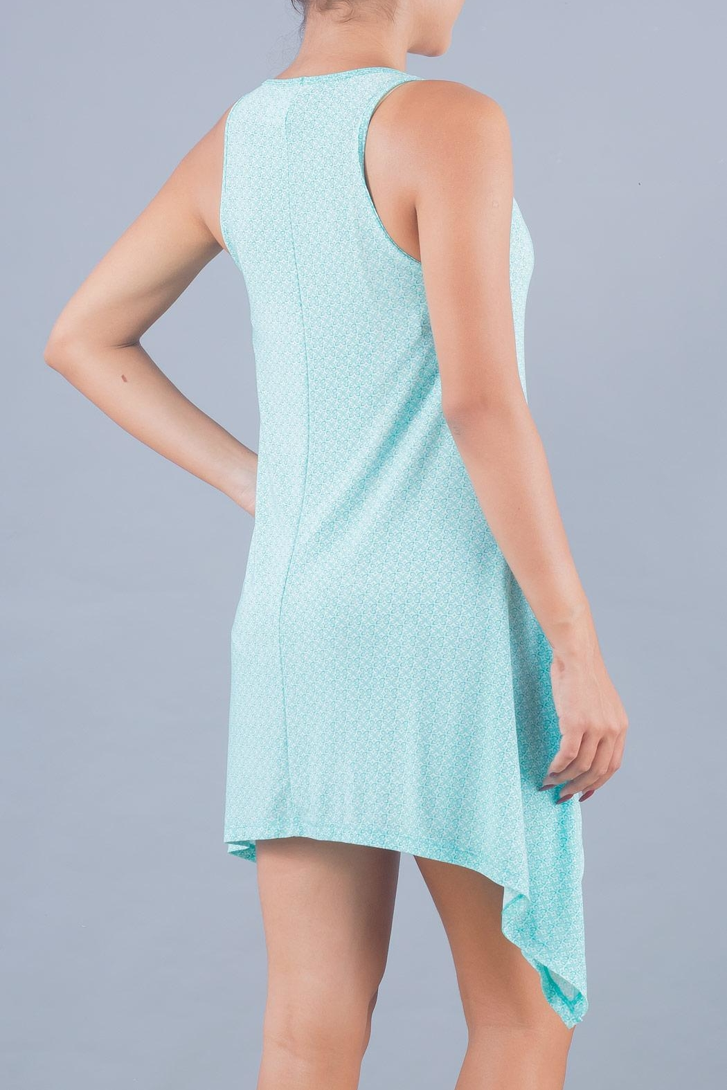 Myskova Blue Jamaica Cover Up - Back Cropped Image