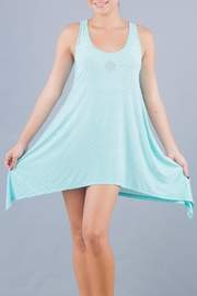 Myskova Blue Jamaica Cover Up - Front full body