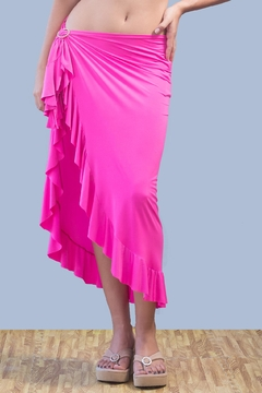 Shoptiques Product: Long Olan Pink Skirt