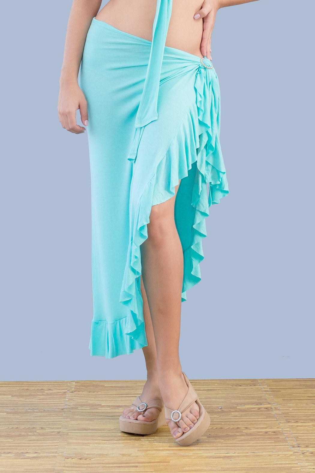 Myskova Long Olan Pareo Cover Up - Front Cropped Image