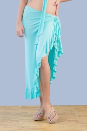 Myskova Long Olan Pareo Cover Up - Front cropped