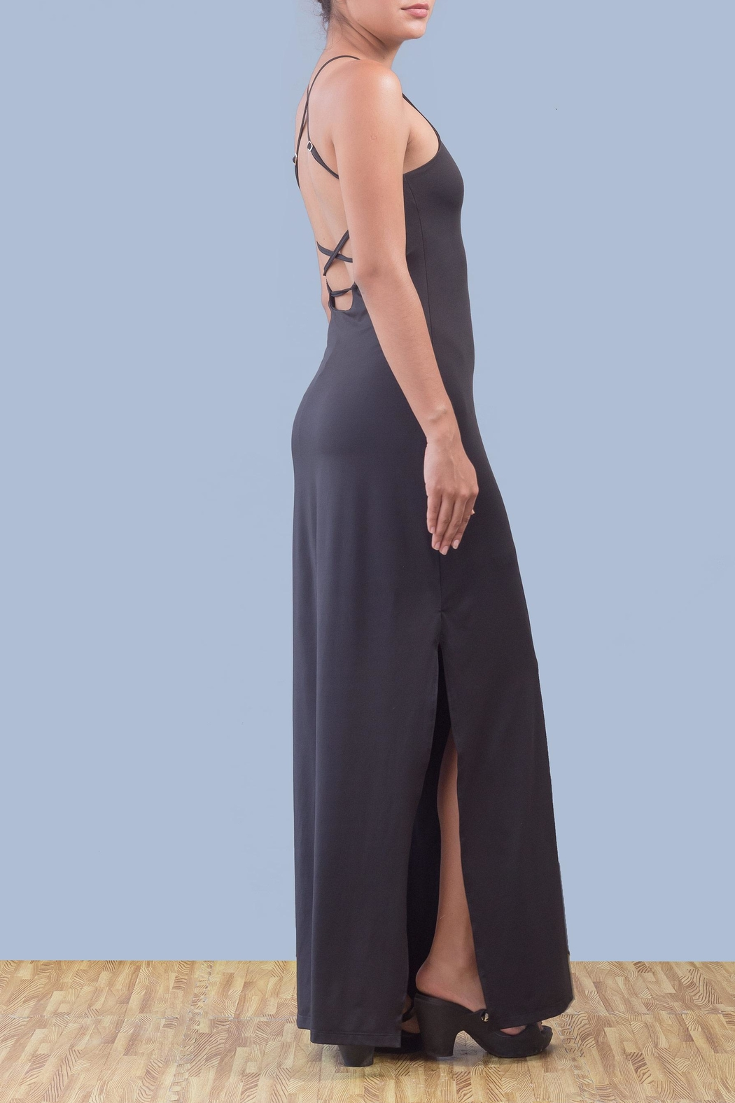 Myskova Platano Long Dress - Side Cropped Image