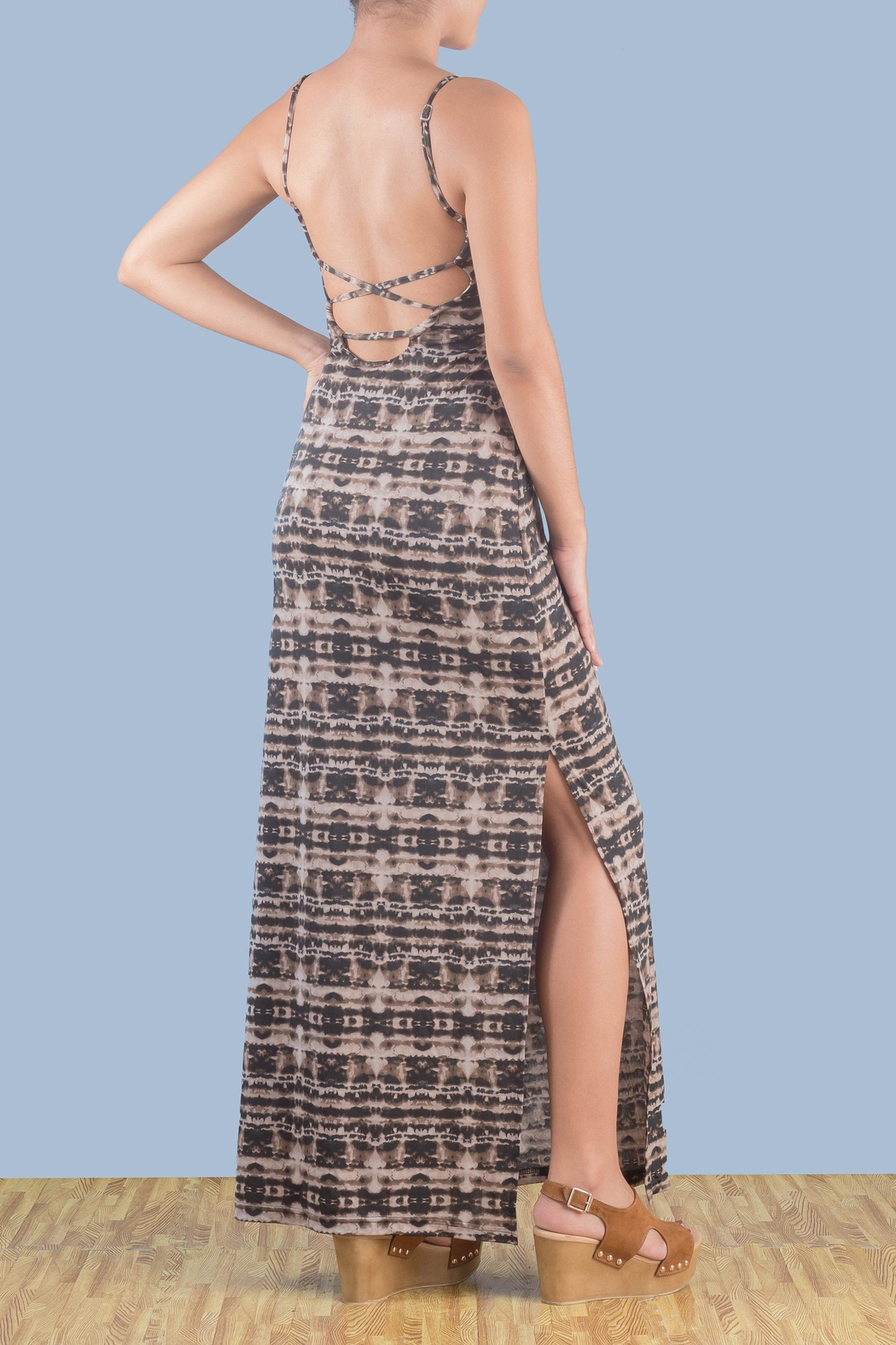 Myskova Platano Long Dress - Front Full Image