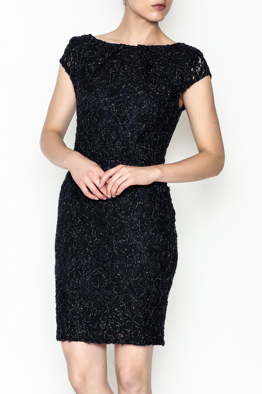 Mystic Beaded Cap Sleeve Dress - Main Image