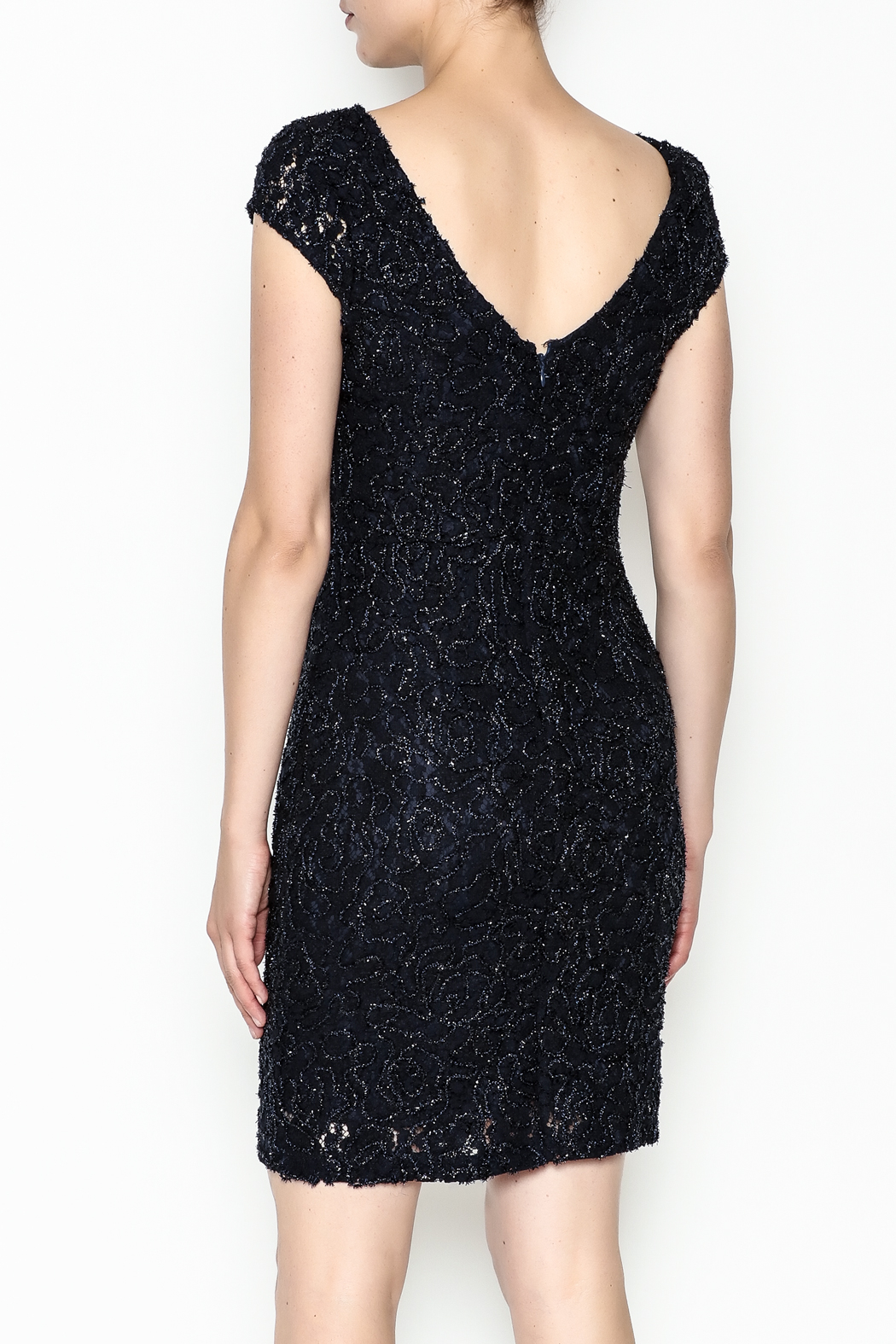 Mystic Beaded Cap Sleeve Dress - Back Cropped Image