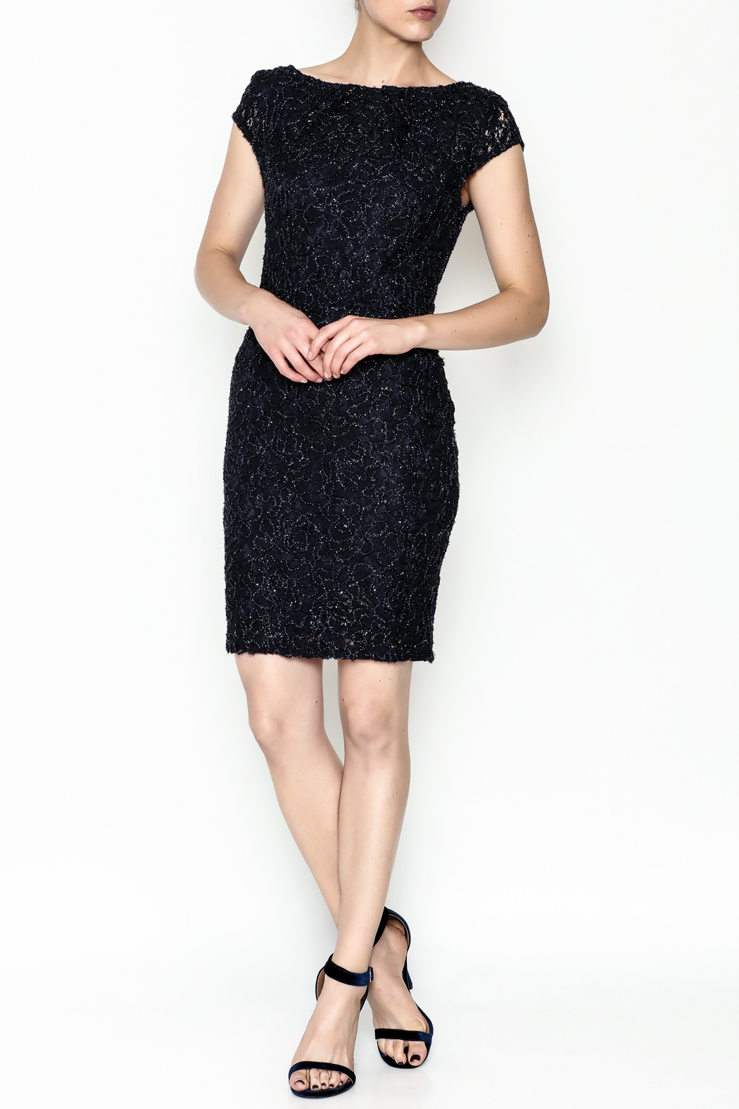 Mystic Beaded Cap Sleeve Dress - Side Cropped Image