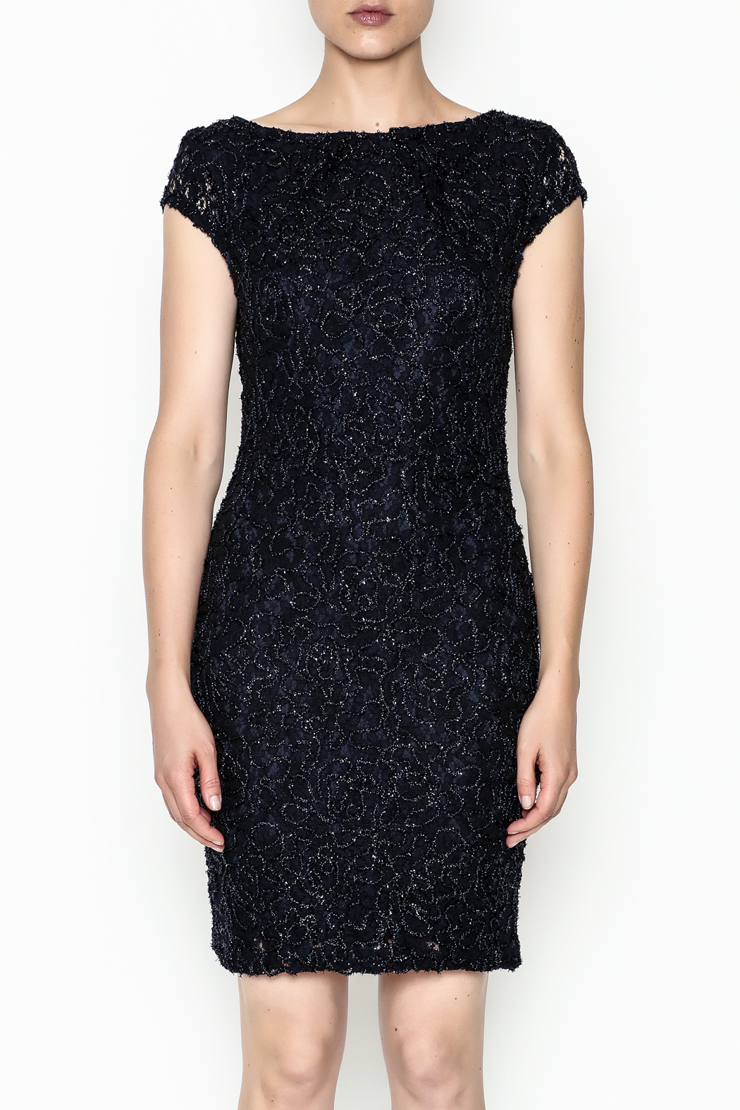 Mystic Beaded Cap Sleeve Dress - Front Full Image
