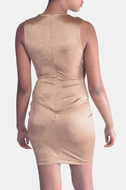 Mystic Drape Front Dress - Back cropped
