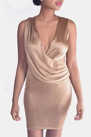 Mystic Drape Front Dress - Product Mini Image