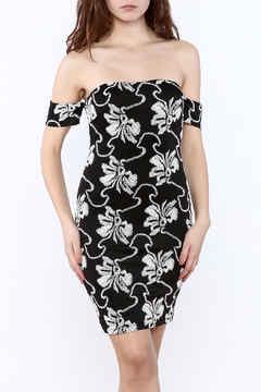 Mystic Black And White Embroidered Dress - Product List Image