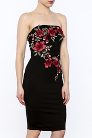 Mystic Strapless Embroidered Dress - Product Mini Image