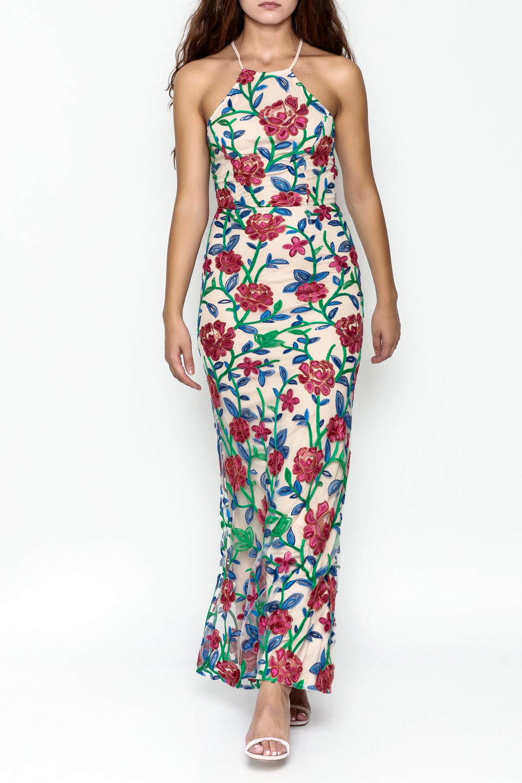 Mystic Embroidered Maxi Dress - Main Image