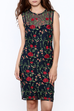 Shoptiques Product: Navy Floral Mesh Dress