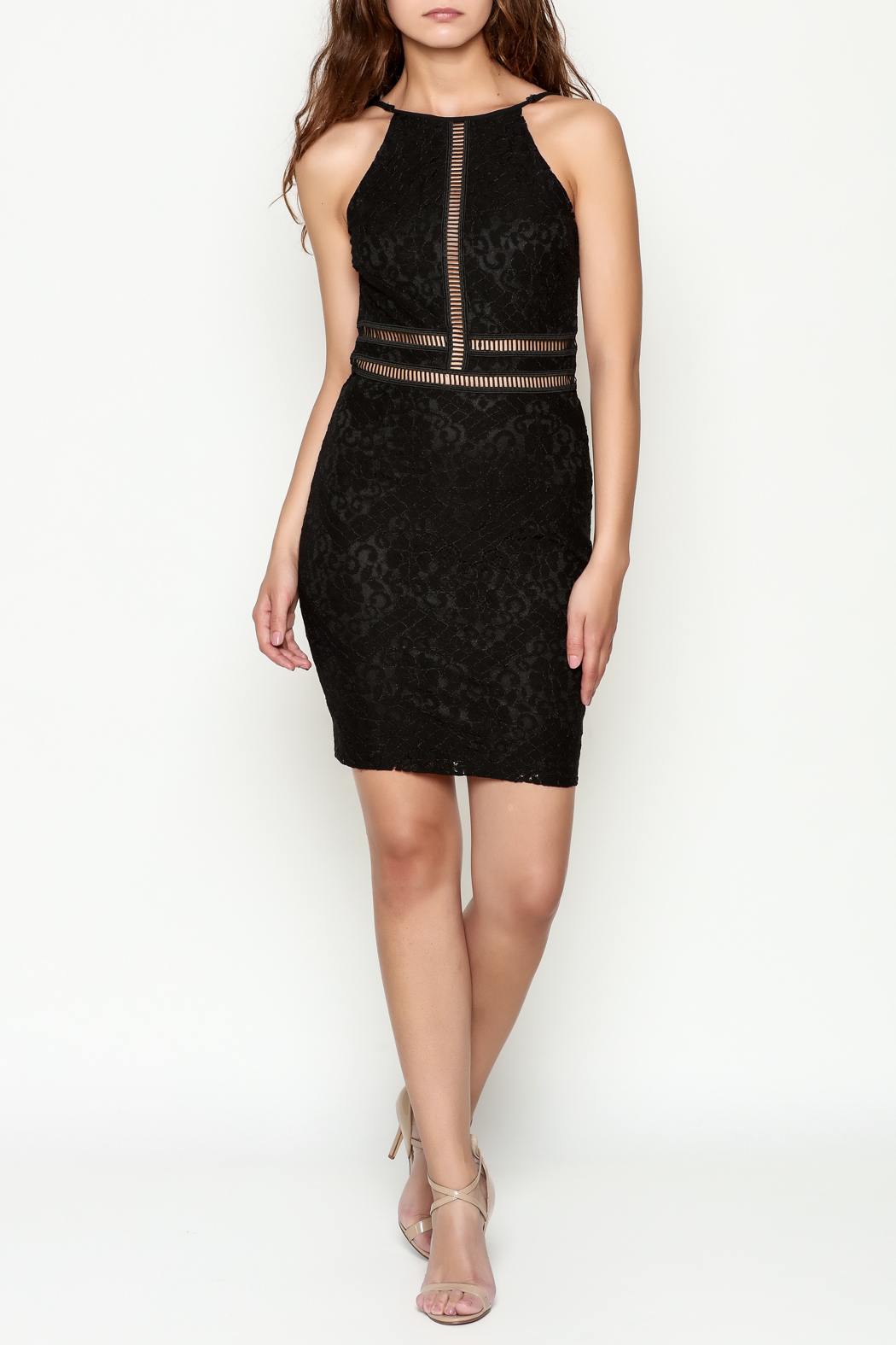 Mystic Lace Dress - Side Cropped Image