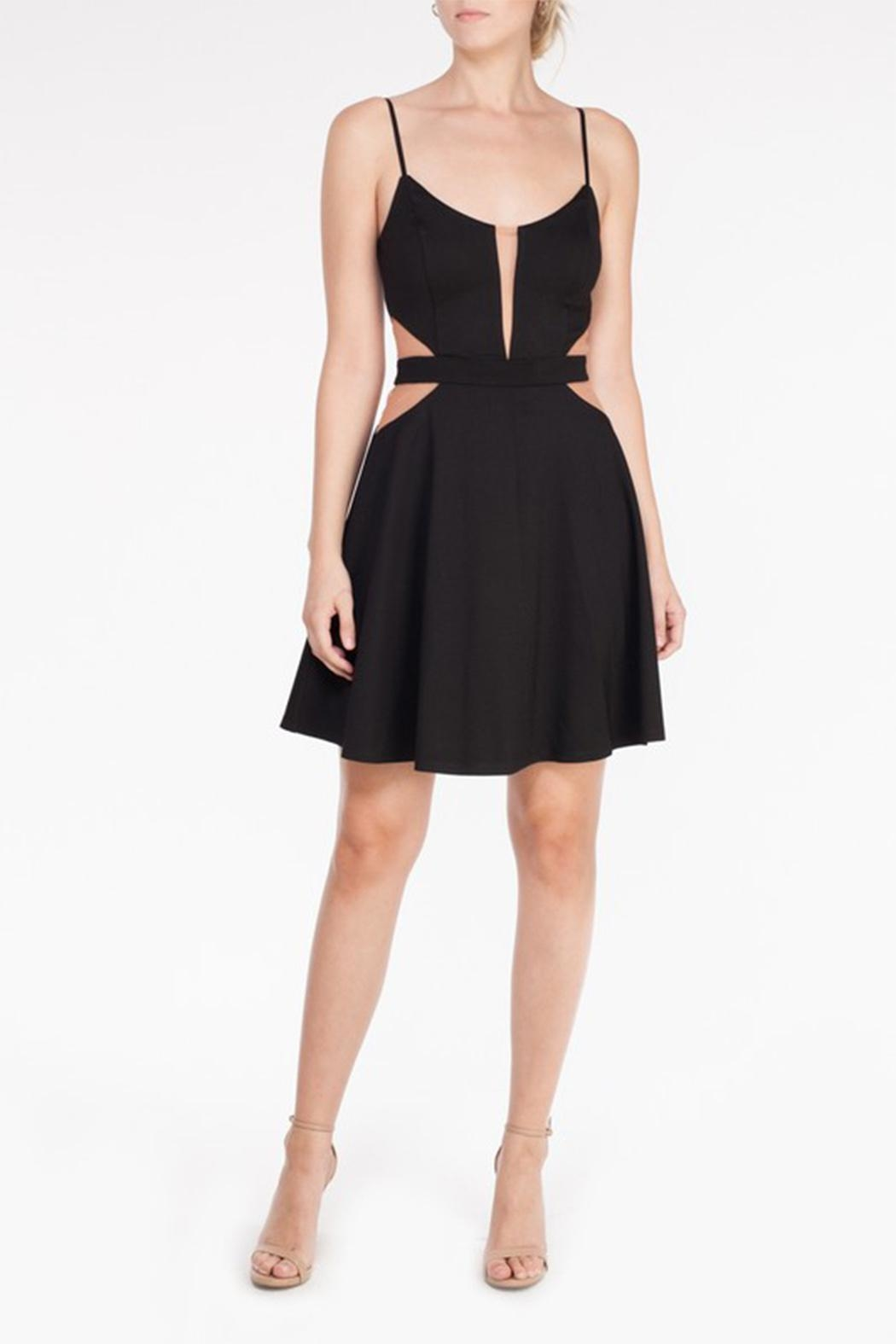 Mystic Mesh Cutout Dress - Side Cropped Image