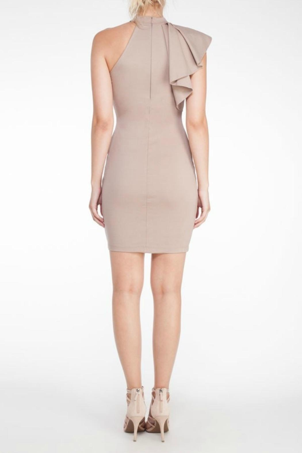 Mystic Ruffle Bodycon Dress - Side Cropped Image