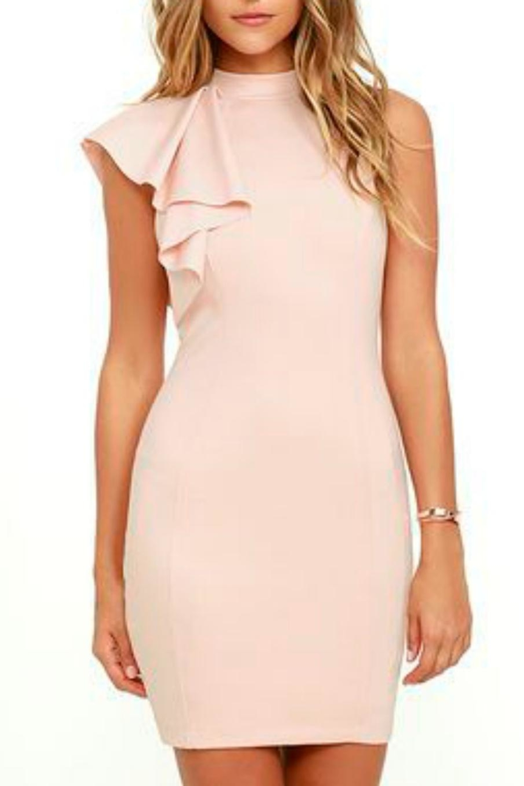 Mystic Ruffle Bodycon Dress - Back Cropped Image
